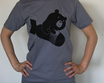 The Bomber Propaganda Bear - Bear Republic T-shirt Unisex size Available in XS OR S