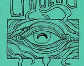Cthulhu Coloring Book, Lovecraft monster art zine, weird horror