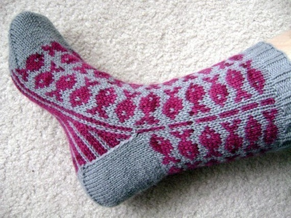 Swedish Fish sock pattern