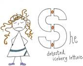 She detested iceberg lettuce