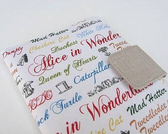 Kindle Fire Cover Nook Simple Touch Cover, iPad Mini Cover Kobo Cover Case Alice in Wonderland White eReader