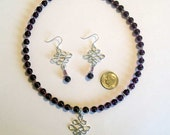 Amethyst Celtic Necklace and Earrings