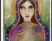 Special Sale   Holy Virgin Mary  Amor Print