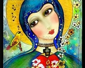 Virgin Mary religious limited edition Print