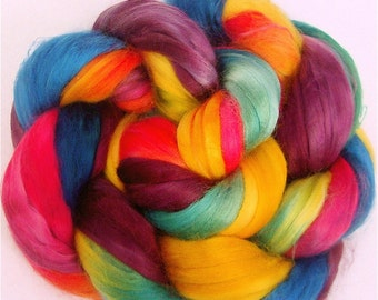Handpainted Milk Silk Top - 2 oz. ARCADE - Spinning Fiber
