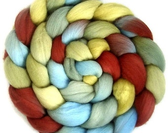 Handpainted Superfine Merino Wool Roving - 4 oz. VINTAGE - Spinning Fiber