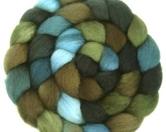 Handpainted BFL Wool Roving - 4 oz. TRIBE - Spinning Fiber