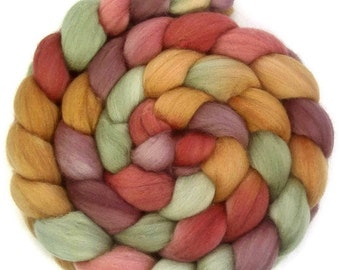 Handpainted Superfine Merino Wool Roving - 4 oz. GRAPEVINE - Spinning Fiber