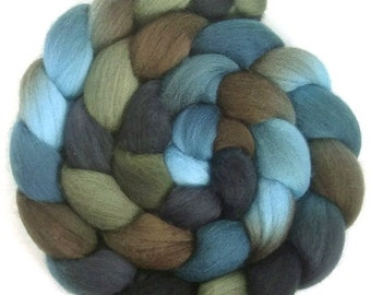 Handpainted Polwarth Wool Roving - 4 oz. TRIBE - Spinning Fiber