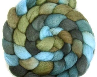 Handpainted Superfine Merino Wool Roving - 4 oz. TRIBE - Spinning Fiber