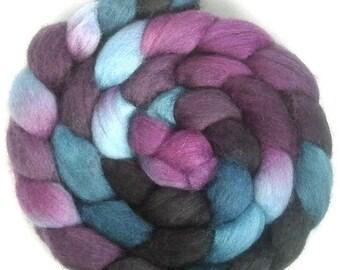 Handpainted BFL Wool Roving - 4 oz. TWILIGHT - Spinning Fiber