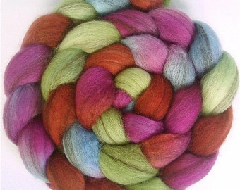 Handpainted Heathered BFL Roving - 4 oz. POTTERY - Spinning Fiber