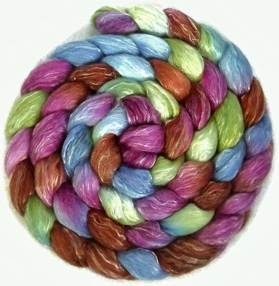 Hand Painted Sock Roving