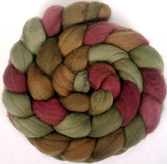 Handpainted Polwarth Wool Roving - 4 oz. CIDER HOUSE- Spinning Fiber