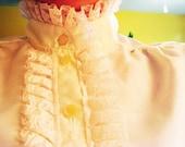 Ivory Lace Ruffle Blouse