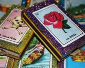 Mexican Matchbox Party Favors Loteria Fiesta Wedding Matchboxes