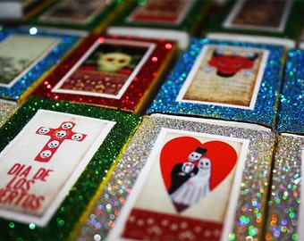 mexican wedding favors day of the dead party quinceanera cinco de mayo quince candy matchboxes