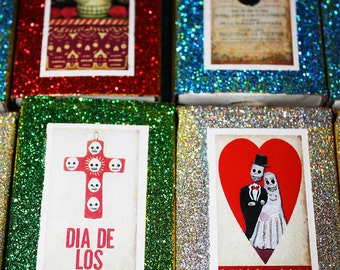Day of the Dead Wedding Favors 100 Mexican Matchboxes Party Decorations