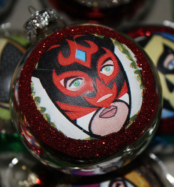 Lucha Libre Luchador Mexican Christmas Ornaments Decorations