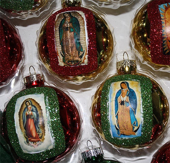 Virgen De Guadalupe Mexican Christmas Ornaments Decorations