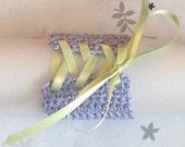 Lilac Wrist Cuff - Large - Green Ribbon