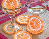 Orange Slice Coasters - Set of 6