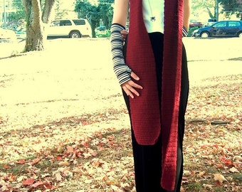 Extra Long Scarf - SALE Burgundy Scarf 3 meters long, 10 ft scarf unisex scarf, winter accessory, very long scarf, merlot wool acrylic scarf