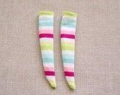 Knee High Socks for Blythe Momoko Pullip Doll -D3