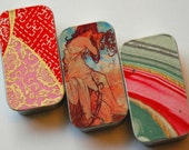 Trio of mini keepers. . . Who loves pink and red. . . Free Shipping