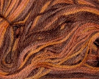 Hand painted Peruvian Wool Yarn RIVER OTTER