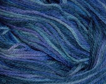 Hand painted Peruvian Wool Yarn LILAC BOUQUET
