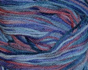 Hand painted Peruvian Wool Yarn DELPHINIUM