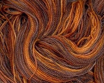 Hand Painted Superwash Merino Wool Sock Yarn River Otter