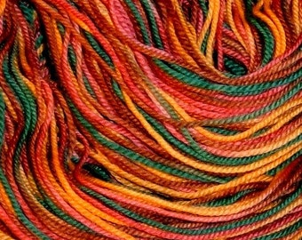 Hand painted Superwash Merino Wool Sport Yarn Fall Meadow
