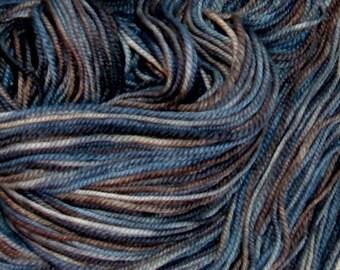 Handpainted Superwash Merino Wool Sport Yarn STONE