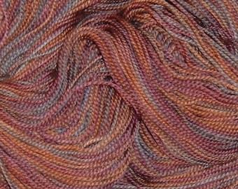 Handpainted Superwash Merino Wool Sock Yarn CHOCOLATE CHERRY