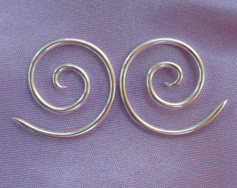 reserve listing for Cynthia G. 14g, Sterling Silver, Spiral earrings, 3's