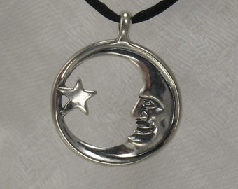 MoonMan pendant, Sterling silver