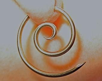 16 gauge, 14k yellow gold fill, Spiral  earrings, 3's