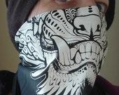 Foo Dog face monster fang bandana