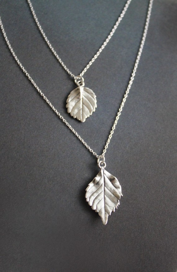 Two Leaves necklace