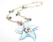 Aqua Marina SeaStar Necklace
