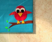 Blue Duct Tape Wallet With Bird
