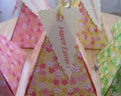 Aikoandnanako Pretty Origami Favor Box  set of 6 for Happy easter