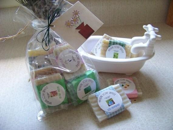 5 Big Soap Samples- Vegan Cold Process- Free Shipping