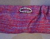 Blue Red Purple Clutch Bag