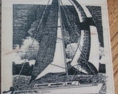 Ship - sailing - rubber stamp