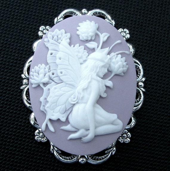 Fairy Fantasy Cameo Brooch or Pendant