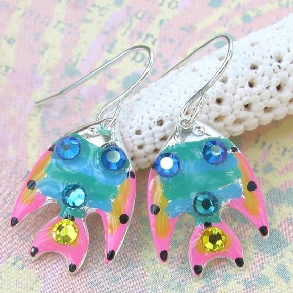 Fish Earrings Tropical Whimsical and Fun
