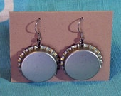 Silver Bottlecap Earrings